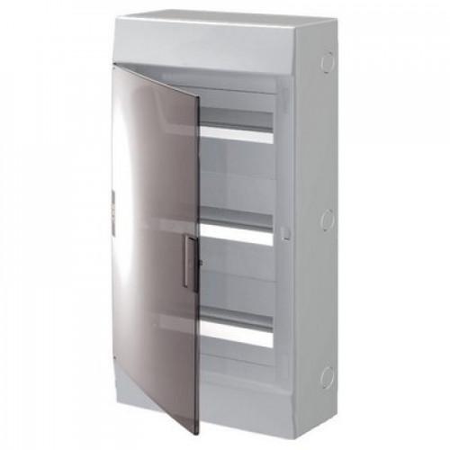 Бокс навесной ABB Mistral41, 36-модулей, пластиковый, прозрачная дверь, с клеммами (3 ряда)
