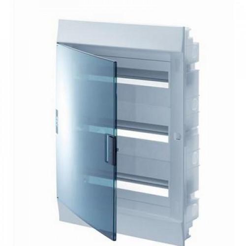 Бокс встраиваемый ABB Mistral41, 54-модуля, пластиковый, прозрачная дверь, с клеммами