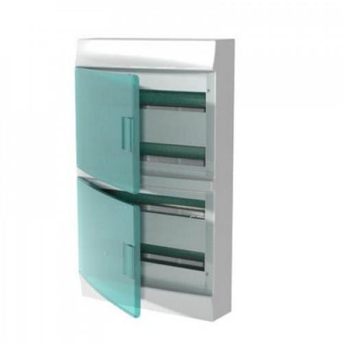 Бокс навесной ABB Mistral41, 72-модуля, пластиковый, прозрачная дверь, с клеммами