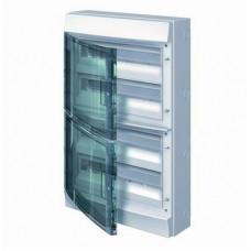 Бокс навесной ABB Mistral65, 72-модуля, пластиковый, IP65 влагозащищенный, прозрачная дверь, с клеммами