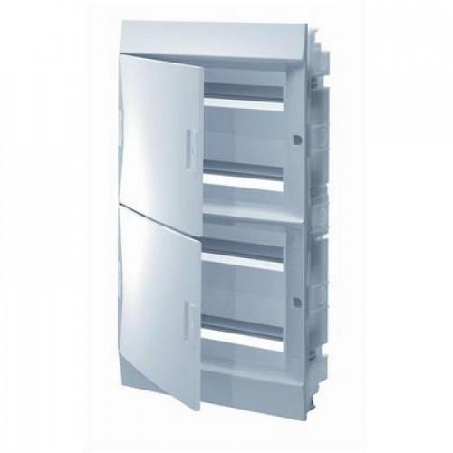 Бокс встраиваемый ABB Mistral41, 72-модуля, пластиковый, непрозрачная дверь, с клеммами