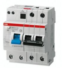Дифференциальный автомат ABB DS202 A B6  A30 двухполюсный на 6a 30ma (тип A)