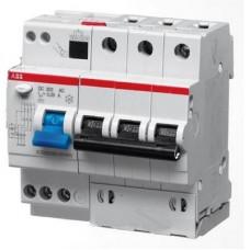 Дифференциальный автомат ABB DS203 C10 AC30 трёхполюсный на 10a 30ma (тип AC)