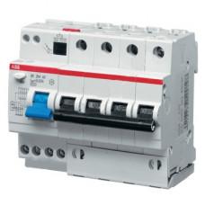 Дифференциальный автомат ABB DS204 A B16 A30 четырёхполюсный на 16a 30ma (тип A)