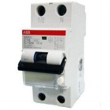 Дифференциальный автомат ABB DS201 C6  AC30 однополюсный на 6a 30ma (тип AC)