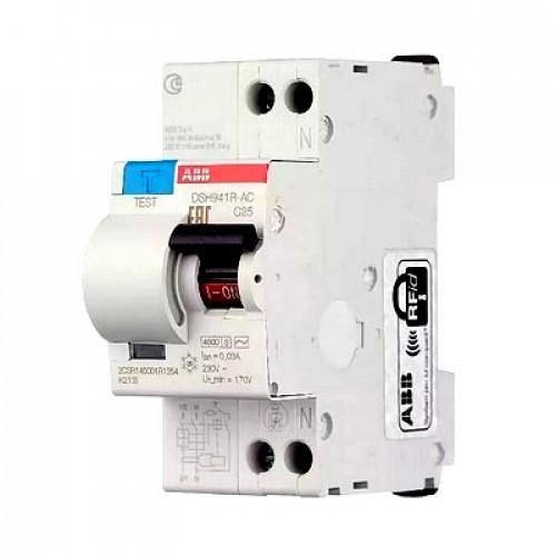 Дифференциальный автомат ABB DSH941R C40 AC30 однополюсный на 40a 30ma (тип AC)