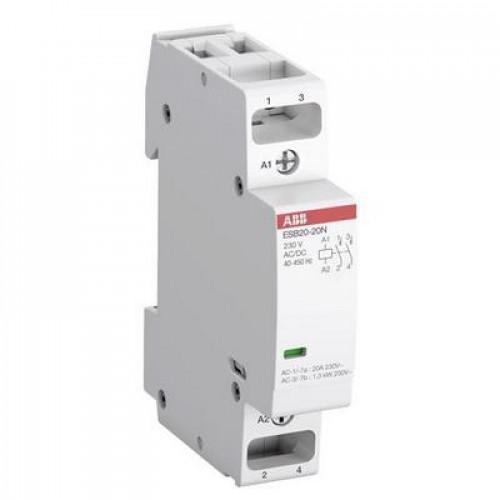 Контактор модульный ABB ESB-20-11N-01 (20А АС-1, 1НО+1НЗ), катушка 24В AC/DC