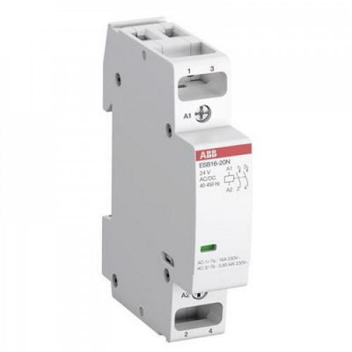 Контактор модульный ABB ESB16-20N-06, (16А АС-1, 2НО), катушка 230В AC/DC