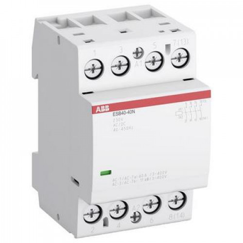 Контактор модульный ABB ESB-40-40N-04 (40А АС-1, 4НО), катушка 110В AC/DC
