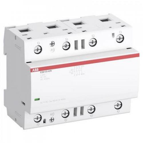 Контактор модульный ABB ESB-100-40N-06 (100А АС-1, 4НО), катушка 230В AC/DC