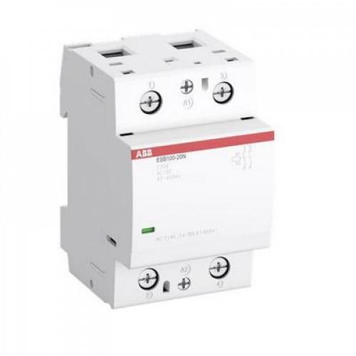 Контактор модульный ABB ESB-100-20N-01 (100А АС-1, 2НО), катушка 24В AC/DC