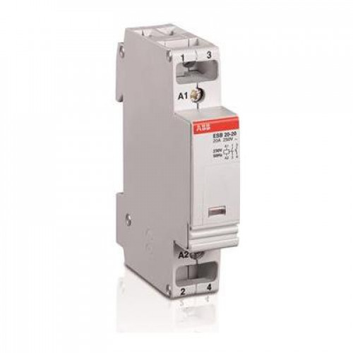 Контактор модульный ABB ESB-20-02 20А AC1 катушка управления 24В АС