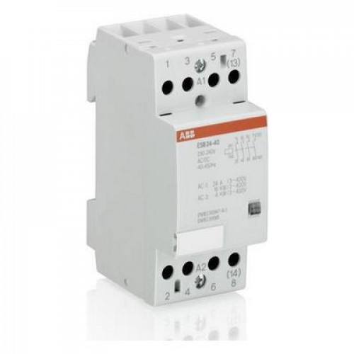 Контактор модульный ABB ESB-24-04 24А AC1 катушка управления 400В АС/DC