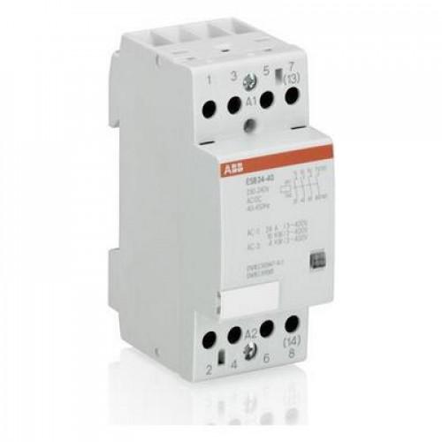 Контактор модульный ABB ESB-24-04 24А AC1 катушка управления 12В АС/DC