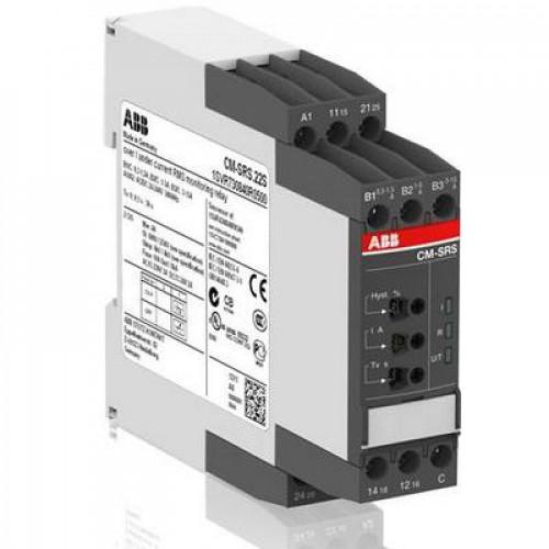 Однофазное реле контроля тока ABB CM-SRS.21S (диапазоны измерения 3-30мА, 10- 100мA, 0.1-1A) 24-240В AC/DC, 2ПК, винтовые клеммы