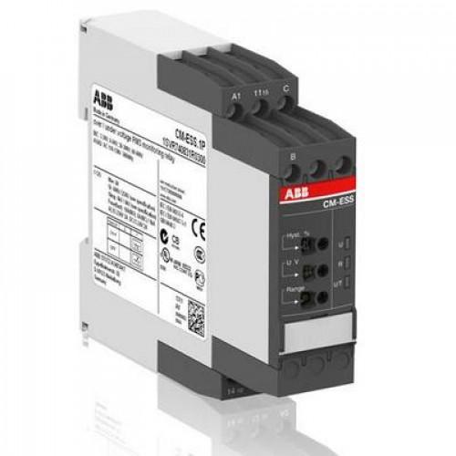Однофазное реле контроля напряжения ABB CM-ESS.2S (диапазоны измерения 3- 30В, 6-60В, 30-300В, 60-600 AC/DC) питание 24-240В AC/DC, 2ПК