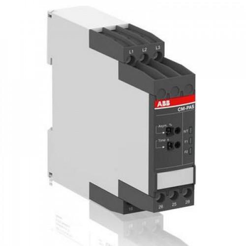 Реле контроля асимметрии фаз ABB CM-PAS.41S с регулеровкой порогов срабатывания 2- 25%, Uпит=Uизм=3х300-500В AC, 2ПК, винтовые клеммы