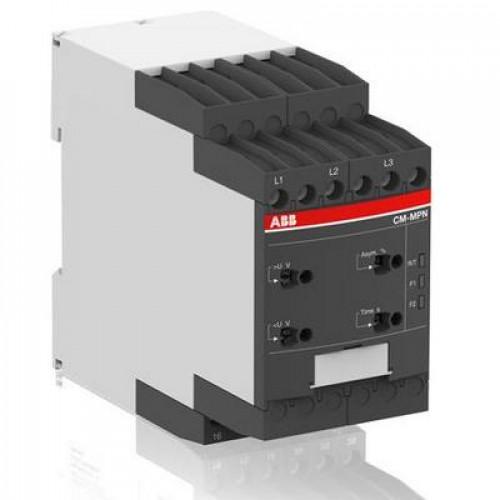 Реле контроля ABB CM-MPN.52S без контроля нуля, Umin/Umax=3х350-460В/480- 580BAC, 2ПК, винтовые клеммы