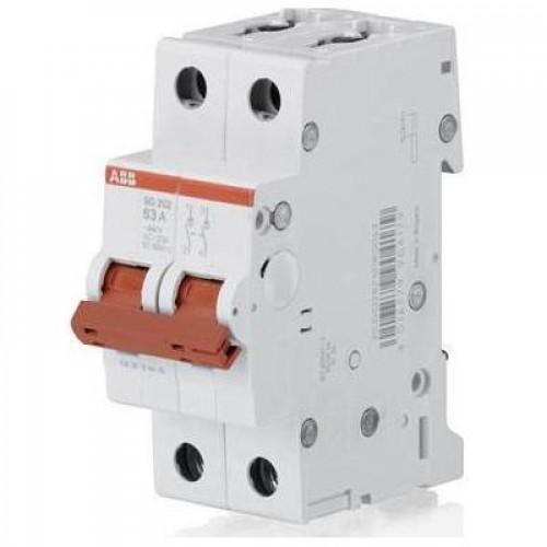 Рубильник (выключатель нагрузки) ABB SHD202/16А 2-полюсный модульный