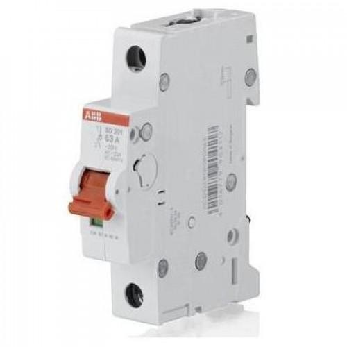 Рубильник (выключатель нагрузки) ABB SD201/63А 1-полюсный модульный