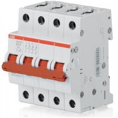 Рубильник (выключатель нагрузки) ABB SHD204/25А 4-полюсный модульный
