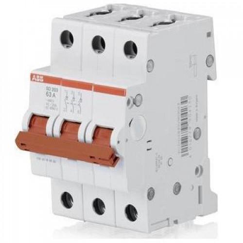 Рубильник (выключатель нагрузки) ABB SHD203/63А 3-полюсный модульный
