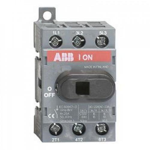 Рубильник ABB OT25F3 до 25А 3-полюсный выключатель нагрузки