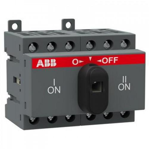 Рубильник реверсивный перекидной ABB OT25F3С до 25А 3-полюсный