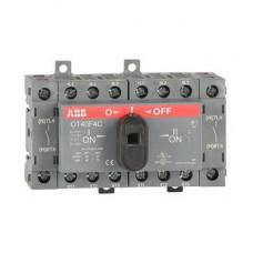 Рубильник реверсивный перекидной ABB OT40F4C до 40A 4-полюсный