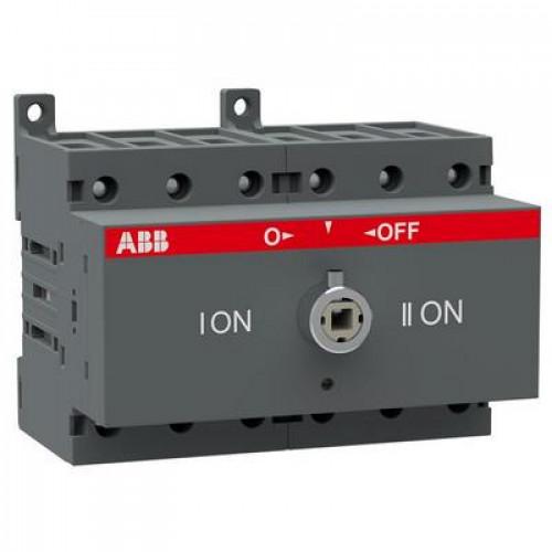Рубильник реверсивный перекидной ABB OT100F3C до 100А 3-полюсный