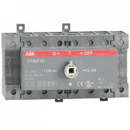 Рубильник реверсивный перекидной ABB OT100F4C до 100А 4-полюсный