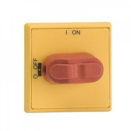 Ручка управления ABB OHYS3RHE-RUH (желто-красная) с символами на русском для рубильников дверного монтажа ОТ16..80FТ