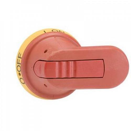 Ручка управления ABB OHY125J12 (желто-красная) для управления через дверь рубильниками типа OT630..800