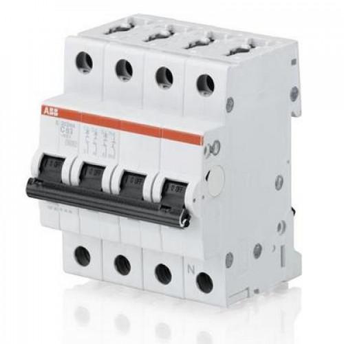 Автоматический выключатель ABB S203 C10 трёхполюсный с разъединением нейтрали на 10a