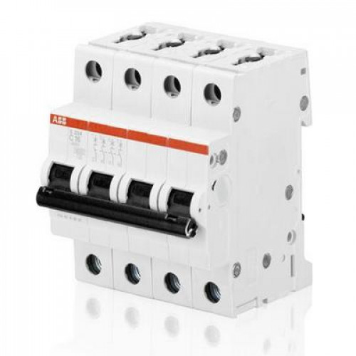 Автоматический выключатель ABB S204 C10 четырёхполюсный на 10a