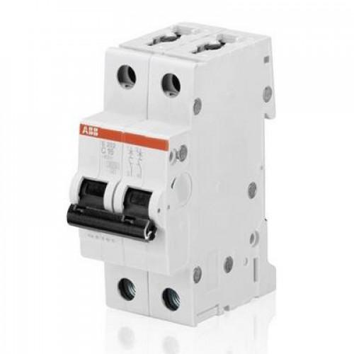 Автоматический выключатель ABB S202 D1.6 двухполюсный на 1.6a