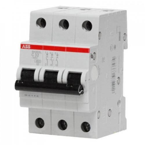 Автоматический выключатель ABB SH203L C10 трёхполюсный на 10a