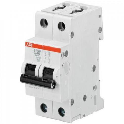 Автоматический выключатель ABB S202M C1.6 двухполюсный на 1.6a
