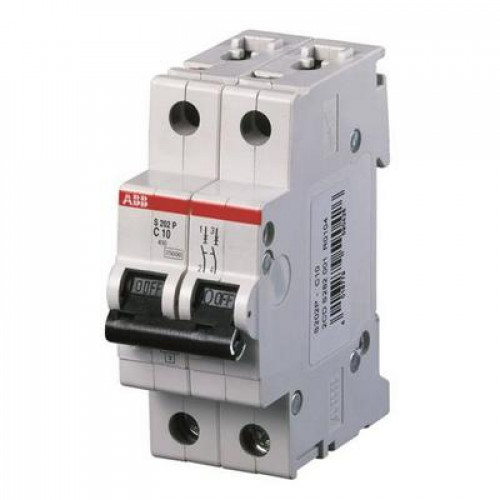 Автоматический выключатель ABB S202P C10 двухполюсный на 10a