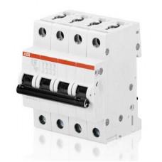 Автоматический выключатель ABB S204 C1.6 четырёхполюсный на 1.6a