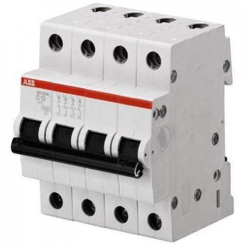 Автоматический выключатель ABB SH204L C16 четырёхполюсный на 16a