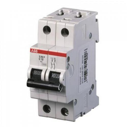 Автоматический выключатель ABB S202P C1.6 двухполюсный на 1.6a