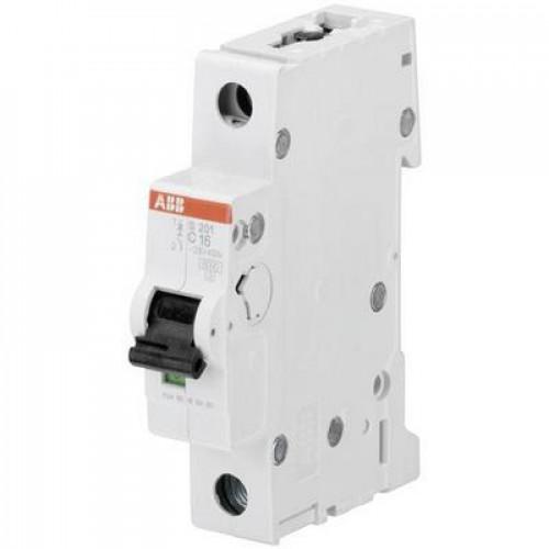 Автоматический выключатель ABB S201 C1.6 однополюсный на 1.6a