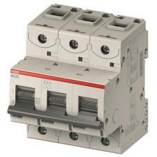 Автоматический выключатель ABB S800C C100 трёхполюсный на 100a