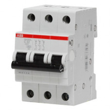 Автоматический выключатель ABB SH203L C63 трёхполюсный на 63a