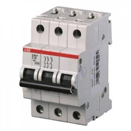 Автоматический выключатель ABB S203P C2 трёхполюсный на 2a