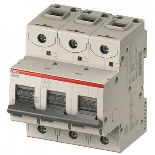Автоматический выключатель ABB S800C D16 трёхполюсный на 16a